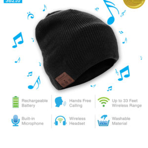 Tenergy Wireless Bluetooth Beanie Hat with Detachable Stereo
